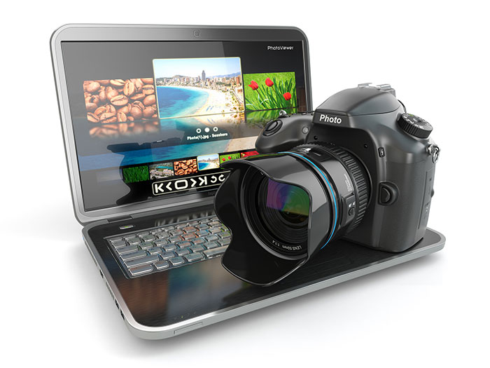 Camera and laptop for survaillance